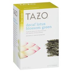 Tazo Tea Bags Decaf Lotus Blossom Green Decaffeinated Box): A delightfully subtle green tea with the delicate taste and aroma of lotus flower essence. Green Tea Cocktail, Decaf Tea, Tea Cocktails, Tea Infuser, Tea Time, Tea Party, Herbalism, Tea Cups