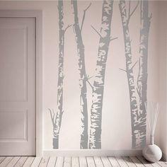 Silver Birch Trees Vinyl Wall Sticker in several variations.
