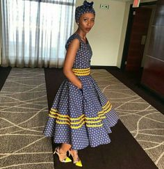 African Shweshwe Styles Trendy for Ladies - Fashion South African Dresses, South African Fashion, African Fashion Ankara, Latest African Fashion Dresses, African Dresses For Women, African Print Fashion, African Attire, African Prints, Xhosa Attire
