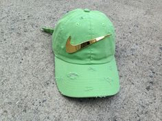 Mint Golden Check Dad Cap
