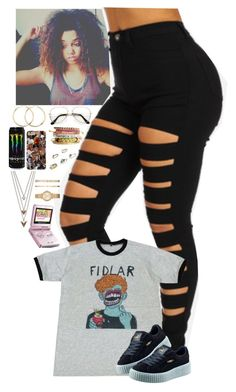 """Untitled #223"" by simplyaja18 ❤ liked on Polyvore featuring Puma, Panacea, Roberto Coin, H&M, Nintendo, Topshop and Michael Kors"