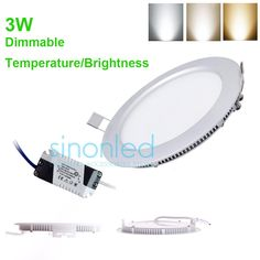 3W Dimmable Temperature/Brightness CREE LED Recessed Ceiling Panel DownLight Bulb & Driver Warm/Natural/Cool White 86 265V-in Downlights from Lights & Lighting on Aliexpress.com | Alibaba Group