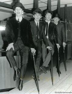 Richard Starkey, George Harrison, John Lennon, and Paul McCartney (August 1963)
