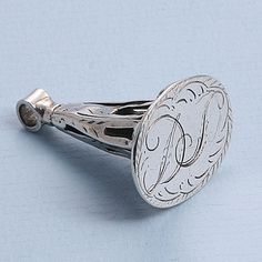 Antiek Zilver Cachet Rond 1800