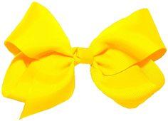 Yellow Hair Bow Baby Bee Costume, Ribbon Wrap, Yellow Hair, Grosgrain Ribbon, Hair Bows, Headbands, Accessories, Knot, Medium