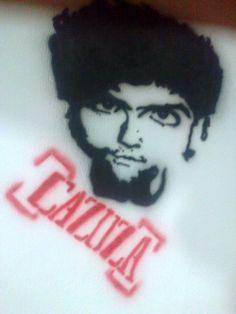 personalização em ambiente no estilo grafite. homenagem  a Cazuza.
