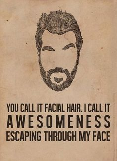 You Call It Facial Hair.  I Call It Awesomeness Escaping Through My Face From: beardoholic.com
