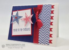 Stampin up stampinup order pretty dozen thoughts patriotic military 4th of july independence day card idea