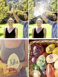 8 Engagement Engagement Shoot Theme Ideas ~ Water Balloon Engagement Shoot - This would be fun!