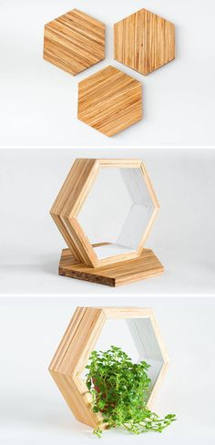 ChopValue have created Recycled Chopstick Honeycomb Shelves. These handmade, modern, hexagonal wood wall shelves and tiles offer a unique accent to any wall.