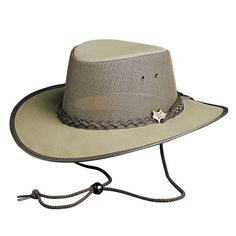 Outdoor hat   Breathable outback hat   mesh hat with chin cord