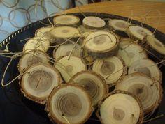 Rustic Wedding Decoration/ Rustic Wood Ornament/ Rustic Wood Favor/ Rustic Christmas Ornament/ Hostess Gift. $29.00, via Etsy.