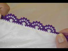 Crochet Edging Patterns, Crochet Motifs, Crochet Borders, Baby Knitting Patterns, Crochet Designs, Crochet Stitches, Hand Embroidery Dress, Hand Embroidery Stitches, Beaded Embroidery