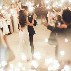 """by @kelseaholderphoto"" Great idea using sparklers"