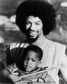 Jazz poet, singer, songwriter and 'Godfather of Rap' Gil Scott-Heron poses for a portrait with his son in February Get premium, high resolution news photos at Getty Images Black Fathers, Fathers Love, Afro, Gil Scott Heron, Blues, Old School Music, Black Families, The Godfather, Soul Music