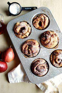 chai & pear cinnamon rolls   The Baking Fairy