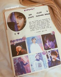 💜 TAEHYUNG FEED 💜 ——— Today the feed of my bias! V💜 Today I have registered to the workshop of my city that has made , with… Bullet Journal Books, Bullet Journal Ideas Pages, My Journal, Bullet Journal Inspiration, Bullet Journal Aesthetic, Journal Quotes, Scrapbook Journal, K Pop, Bts Wallpaper