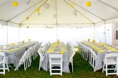 what if we set up tables like this with white table clothes and burlap runner down middle?