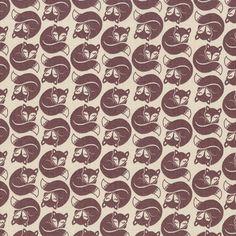 Lewis & Irene Fabric: Fox and Friends Brown Fox (per 1/4 metre)