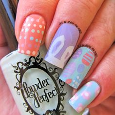 It's all about the polish: Easter Bunny Nail Art