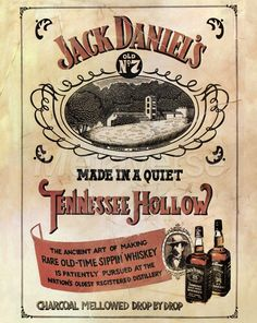 Vintage Liquor Poster