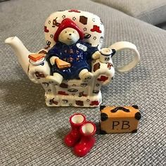 Rare-NIB-Limited-Edition-Paul-Cardew-Paddington-Bear-4pc-Teapot-389-2000-1999