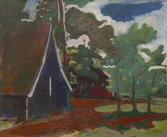 Jan Wiegers Kommerzijl (1893-1959) A farm in Twenthe, oil on canvas. Collection Simonis & Buunk, The Netherlands.