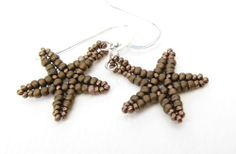 Bronze Starfish Earrings