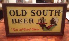 Vintage Old South Beer Sign Light