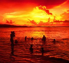 puerto rico sunset | Puerto Rico Beach-Family @ sunset | Flickr - Photo Sharing!