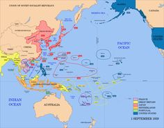 This is a map of the areas that the japanese controlled during ww2 pacific area the imperial powers 1939 map political map of the asia pacific region find this pin and more on pacific war ww2 gumiabroncs Choice Image