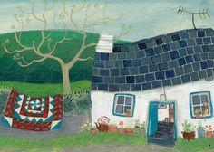 'Sweet Pea' By Painter Valeraine Leblond. Blank Art Cards By Green Pebble. www.greenpebble.co.uk