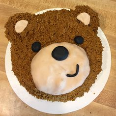 Teddy bear cake for first birthday party.