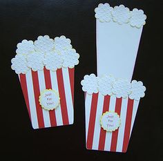 Stampin Up Handmade Popcorn Card, Birthday, All Occasion, Gift card Holder like coffee one