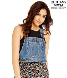 Overall Crop Top - Summer Bethany Mota Collection