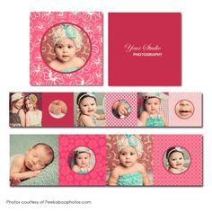 Pink Lilly Accordion Mini Book - available through Jen Boutet Photography with your portrait session - in Charlottesville, Va.