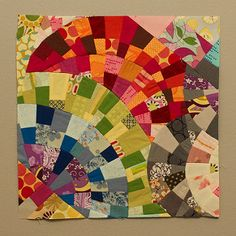 OScrappyBee: rainbows for Kristine | by angefasu. Using modern mood quilt tutorial.