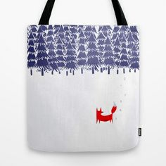 Alone in the forest Tote Bag by Robert Farkas - $22.00