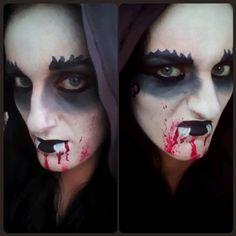 Face painting vampire