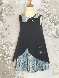 HER Little world, Sewing Pattern for garment child dress Applied
