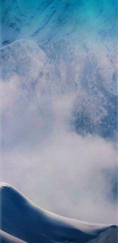 Mountain, aqua, wallpaper, galaxy, tranquil, beauty, nature, peaceful, calming, clouds, sky, s8, walls, Samsung