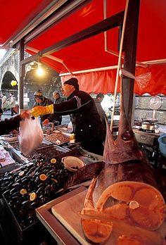 Mercado de pescado , pescheria, Catania, Sicilia, Italia