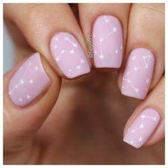Trendy Nails, Cute Nails, My Nails, Nail Design For Short Nails, Long Nails, Star Nail Designs, Acrylic Nail Designs, Stars Nails, Star Nail Art