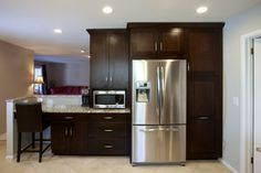Doris & Sonny wanted an open floor plan. - contemporary - kitchen - dc metro - Signature Kitchens Additions & Baths