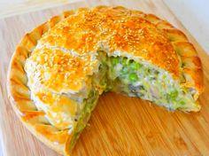 Slimming world: chicken and leek pie