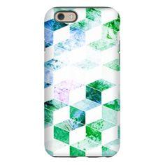 Grungy Green Geometric Box Pat iPhone 6 Tough Case