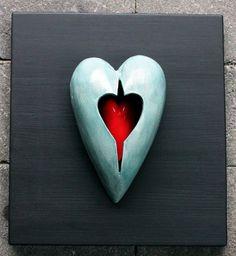 Ceramic heart by Anna Katarina Haaland