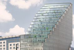 MVRDV has just unvield their Baltyk Tower, another pixilated office tower with the twist of a unique glass fiber concrete louvered façade to control daylight.  Read more: Baltyk Tower by MVRDV | Inhabitat - Sustainable Design Innovation, Eco Architecture, Green Building
