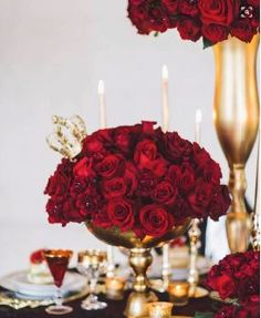 Designed by Bella Fiori, Colorado - red rose and carnation wedding ...