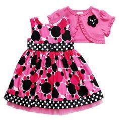 Polka Dots Toddler Dress & Jacket.